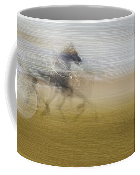 Topsfield Fair Coffee Mug featuring the photograph Horse And Sulkie by David Stone