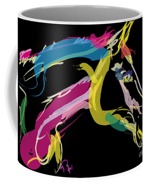 Horse Portrait Coffee Mug featuring the painting Horse- Lovely Colours by Go Van Kampen