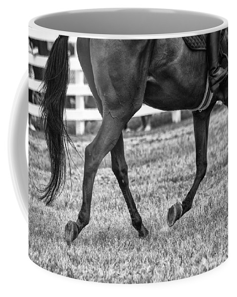 Horse Stepping Coffee Mug featuring the photograph Horse Stepping by Karol Livote