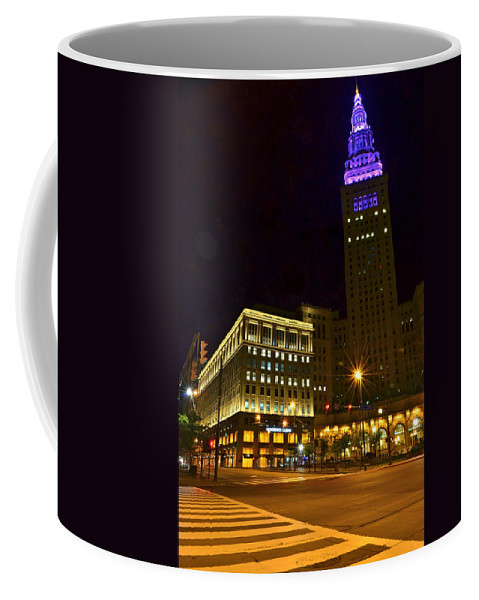 Casino Coffee Mug featuring the photograph Horseshoe Casino Cleveland by Frozen in Time Fine Art Photography