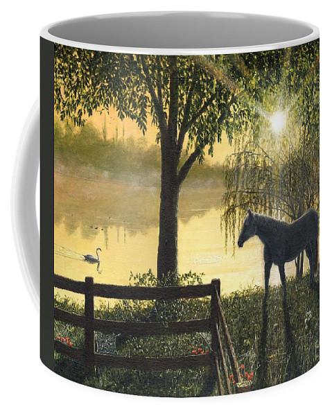 Hoss Coffee Mug featuring the painting Hoss by Richard Harpum