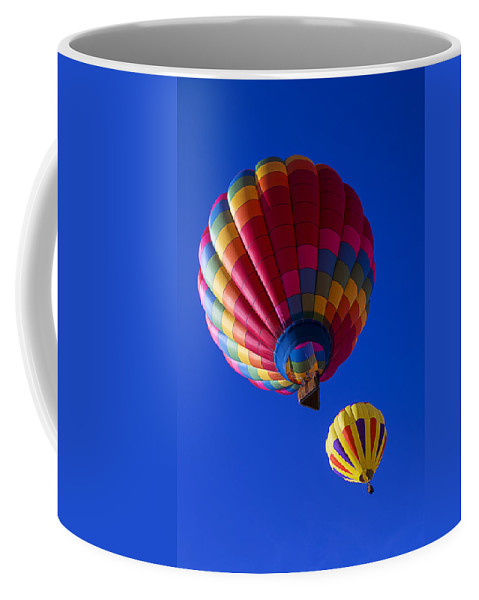 Hot Air Balloons Coffee Mug featuring the photograph Hot Air Ballooning Together by Garry Gay