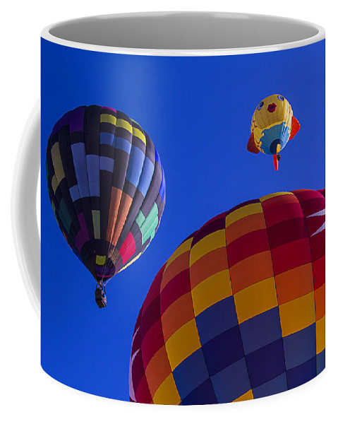 Hot Air Balloons Coffee Mug featuring the photograph Hot Air Balloons Launch by Garry Gay