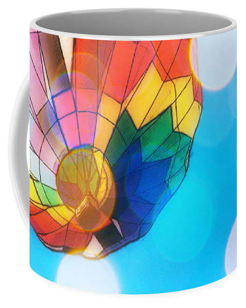 Hot Air Balloon Coffee Mug featuring the photograph Hot Air Bokeh by Alice Gipson