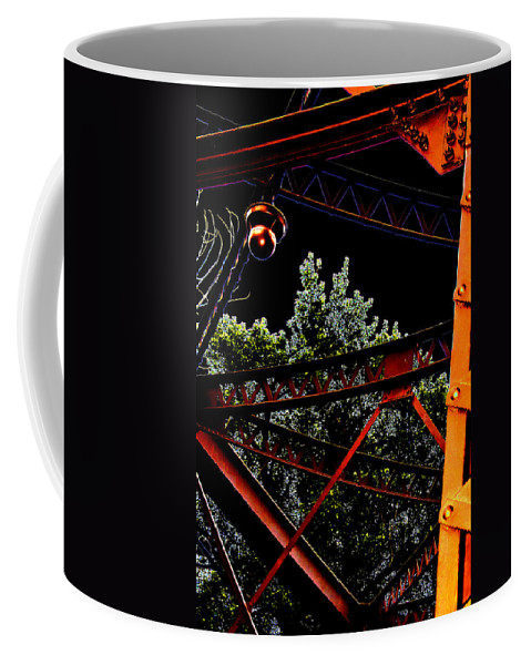 Coffee Mug featuring the photograph Hot Bridge At Night by Cathy Anderson