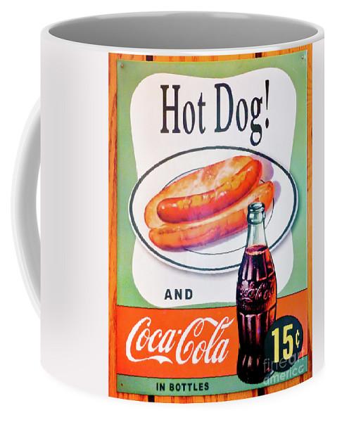 Hot Dog Coffee Mug featuring the photograph Hot Dog And A Coke by John Waclo
