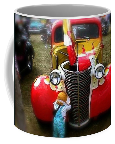 Pickup Coffee Mug featuring the photograph Hot Rod Pickup Truck by Chris W Photography AKA Christian Wilson