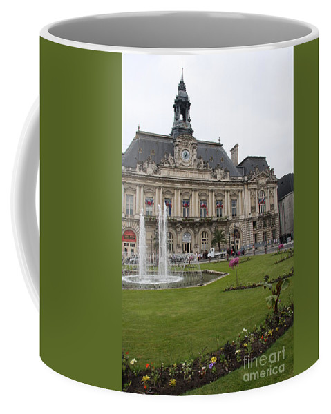 City Hall Coffee Mug featuring the photograph Hotel De Ville - Tours by Christiane Schulze Art And Photography
