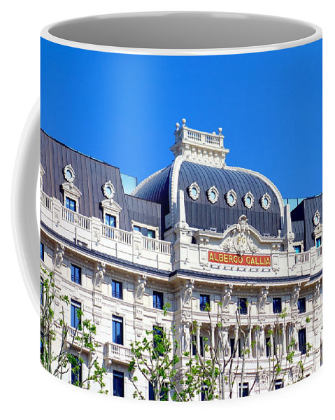 Hotel Coffee Mug featuring the photograph Hotel Gallia by Valentino Visentini
