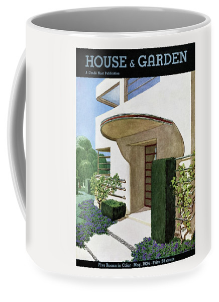 House & Garden Coffee Mug featuring the photograph House & Garden Cover Illustration Of A Modern by Pierre Brissaud