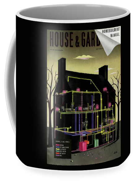 House & Garden Coffee Mug featuring the photograph House and Garden Cover Illustration Of The Internal by Victor Bobritsky
