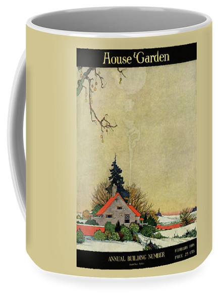 House And Garden Coffee Mug featuring the photograph House And Garden Annual Building Number Cover by Charles Livingston Bull