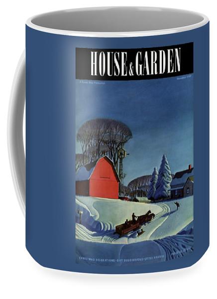 House And Garden Christmas Decoration Cover Coffee Mug