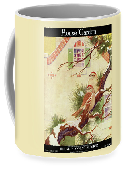 Illustration Coffee Mug featuring the photograph House And Garden Cover by Charles Livingston Bull