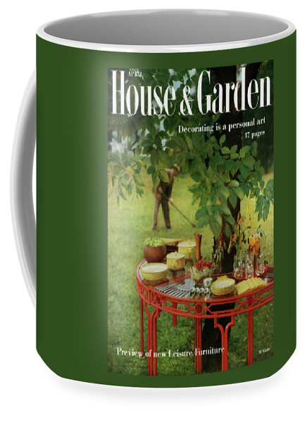 Landscape Coffee Mug featuring the photograph House And Garden Cover by Horst P. Horst