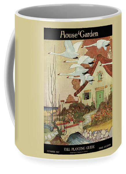 House And Garden Coffee Mug featuring the photograph House And Garden Fall Planting Guide by Charles Livingston Bull
