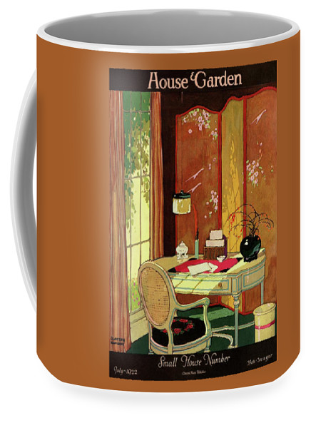 House And Garden Coffee Mug featuring the photograph House And Garden Small House Number by Clayton Knight