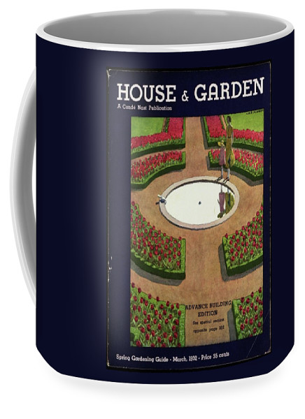House And Garden Coffee Mug featuring the photograph House And Garden Spring Gardening Guide Cover by Andre E. Marty