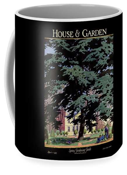 House And Garden Coffee Mug featuring the photograph House And Garden Spring Gardening Guide Cover by Pierre Brissaud