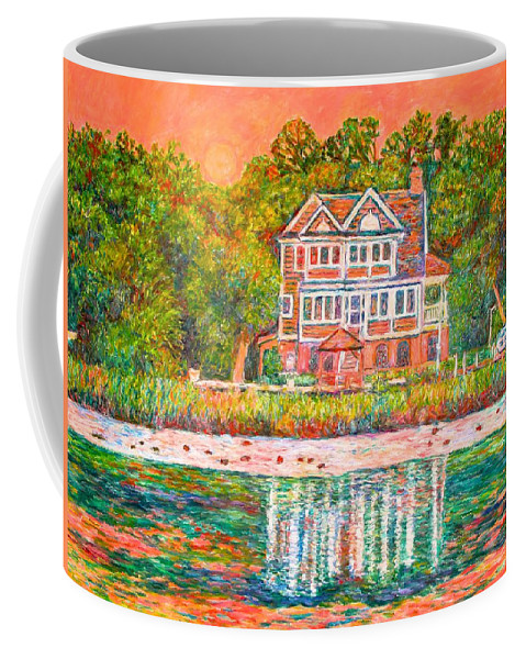 Pawleys Island Coffee Mug featuring the painting House By The Tidal Creek At Pawleys Island by Kendall Kessler
