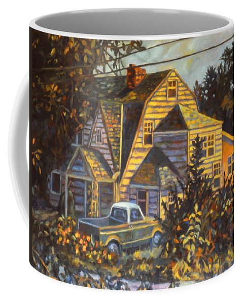 Kendall Kessler Coffee Mug featuring the painting House In Christiansburg by Kendall Kessler