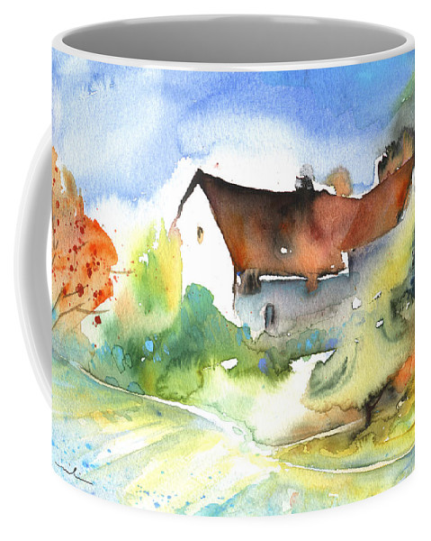 Travel Coffee Mug featuring the painting House In Germany by Miki De Goodaboom