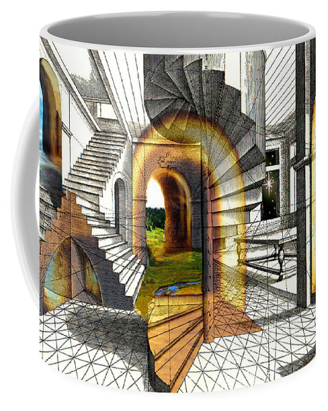 House Coffee Mug featuring the digital art House Of Dreams by Lisa Yount