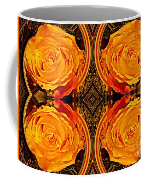 Rose Coffee Mug featuring the digital art House Of Roses by Sarah Loft