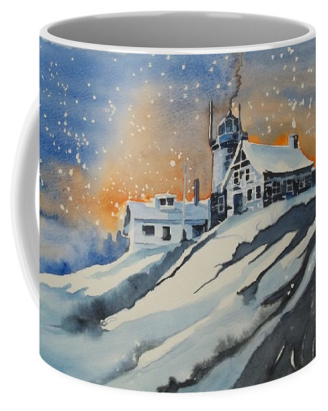 House On Hill Coffee Mug featuring the painting House On Hill by Lise PICHE