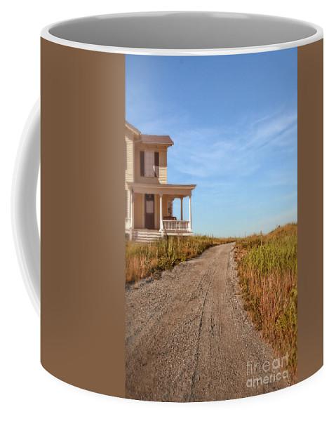 House Coffee Mug featuring the photograph House On Rural Dirt Road by Jill Battaglia
