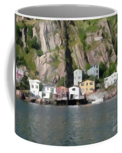 Houses With Expressive Brushstrokes Coffee Mug featuring the photograph Houses With Expressive Brushstrokes by Barbara Griffin