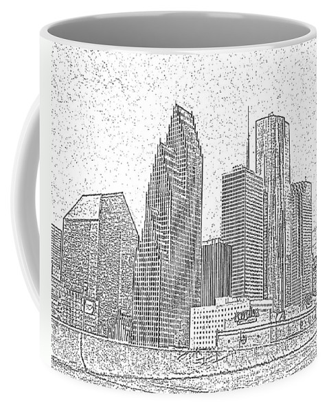 Skyscape Coffee Mug featuring the photograph Houston Skyline Abstract by Jeanne A Martin