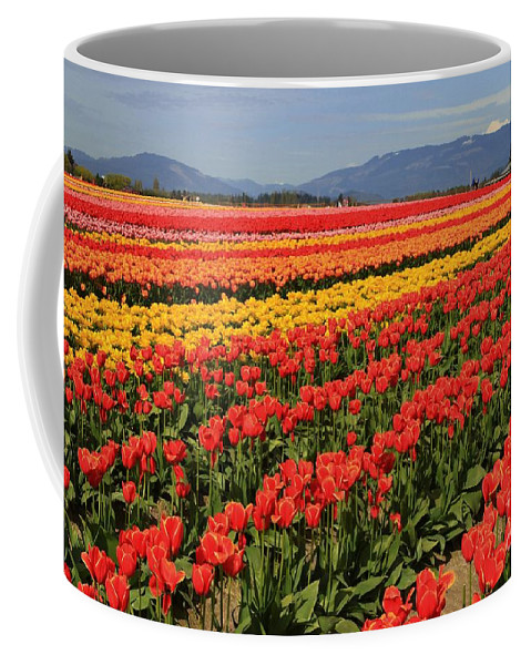 Tulips Coffee Mug featuring the photograph How does your garden grow? by Winston Rockwell