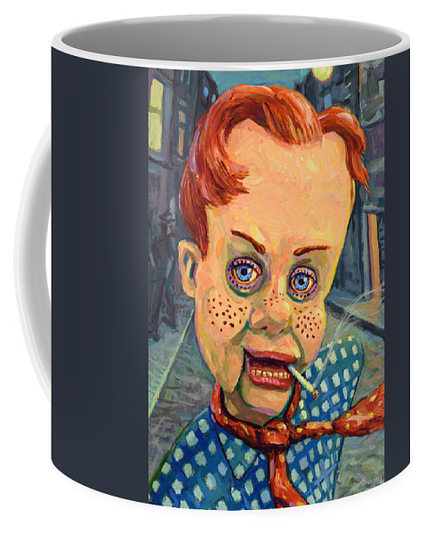 Howdy Doody Coffee Mug featuring the painting Howdy Von Doody by James W Johnson
