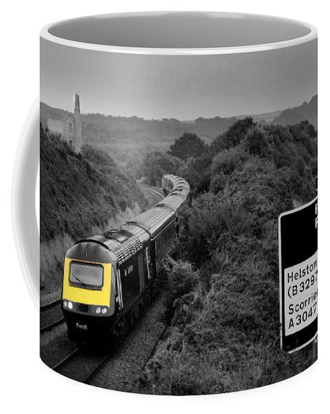 Train Coffee Mug featuring the photograph Hst At Scorrier by Rob Hawkins