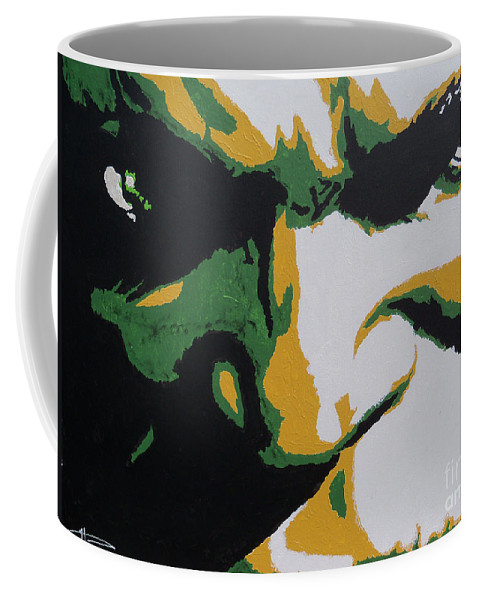 Incredible Coffee Mug featuring the painting Hulk - Incredibly Close by Kelly Hartman