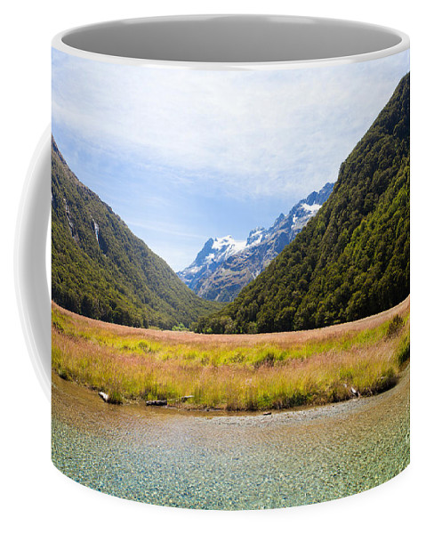 Glenorchy Coffee Mug featuring the photograph Humboldt Mountains Seen From Routeburn Track Nz by Stephan Pietzko