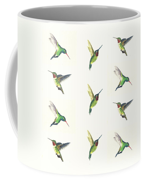 Animals Coffee Mug featuring the painting Hummingbirds Number 2 by Michael Vigliotti