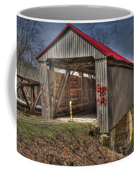 Ohio Coffee Mug featuring the photograph Artistic Humpback Covered Bridge by Jack R Perry