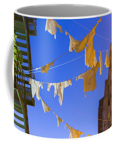Hanging Laundry Coffee Mug featuring the photograph Hung Out To Dry 2 by Scott Campbell