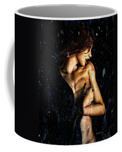Vampire Coffee Mug featuring the digital art Hunger by Bob Orsillo