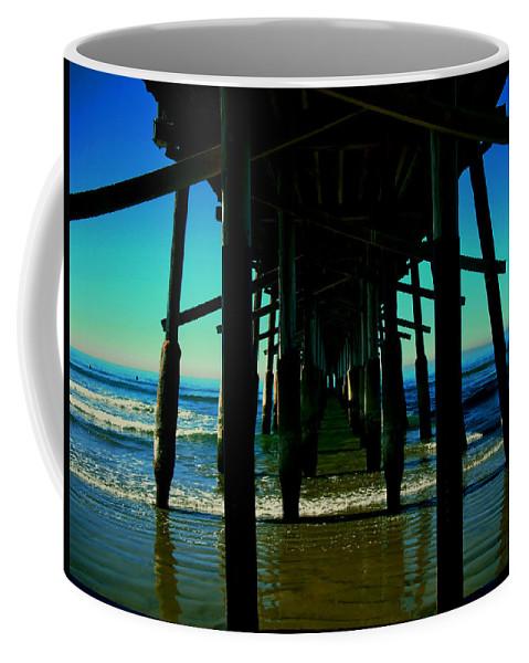 Beach Coffee Mug featuring the photograph Huntington Beach Pier by Carol Tsiatsios