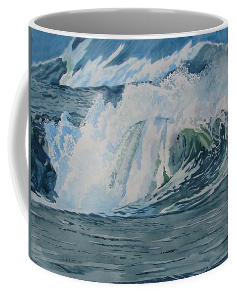 Hurricanes Coffee Mug featuring the painting Hurricane Ike by Alan Mintz