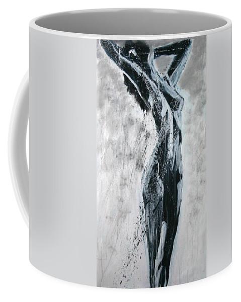 Beautiful Coffee Mug featuring the painting I Am Alive by Jarmo Korhonen aka Jarko