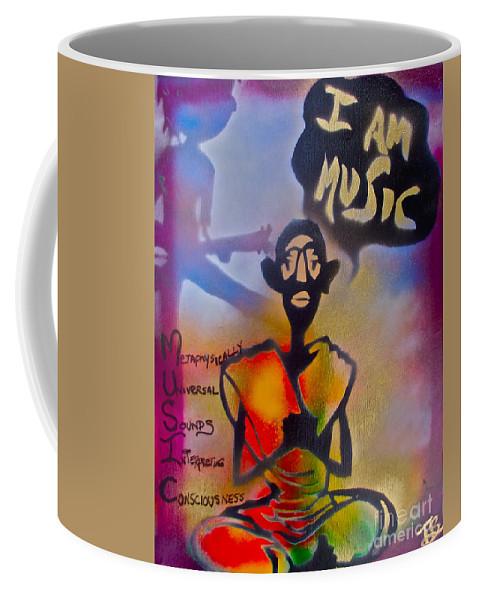 Graffiti Coffee Mug featuring the painting I Am Music #1 by Tony B Conscious