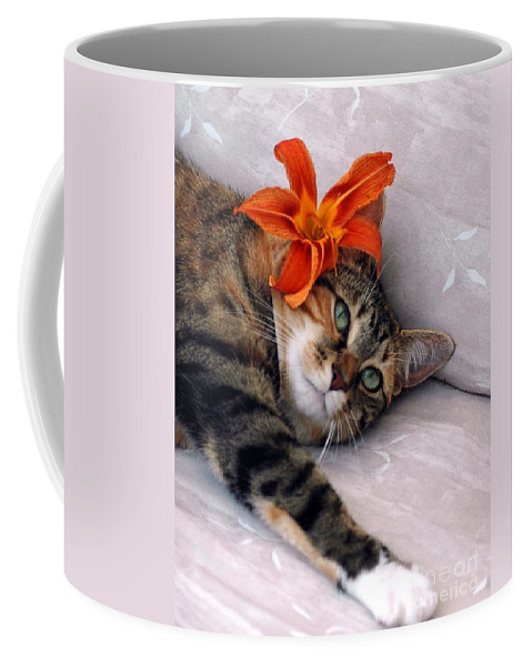 Cat Coffee Mug featuring the photograph I Am Tired by Kathleen Struckle