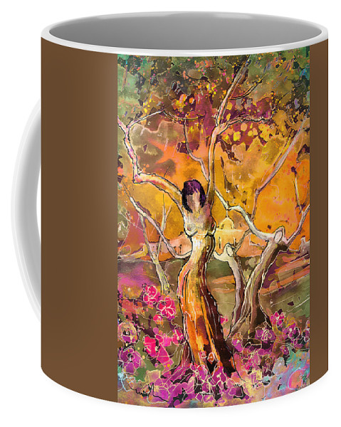 Fantascape Coffee Mug featuring the painting I Am Young by Miki De Goodaboom