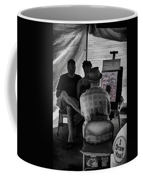 Bele Chere Coffee Mug featuring the digital art I Draw You Caricatures In Asheville by John Haldane