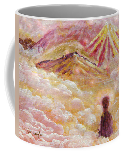 Meditating Coffee Mug featuring the painting I Have Found by Ashleigh Dyan Bayer