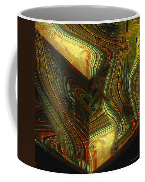 Abstract Coffee Mug featuring the painting I Have Set Aside A Block Of Time by RC deWinter